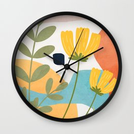 Colorful Flower Design 2 Wall Clock