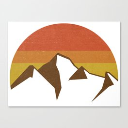 rocky mountains and fall sun Canvas Print