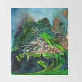 Macchu Picchu Throw Blanket