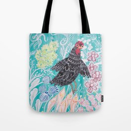 Elmer Finds a Field of Flowers Tote Bag
