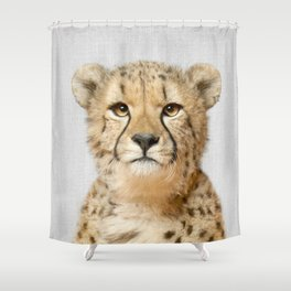 Cheetah - Colorful Shower Curtain