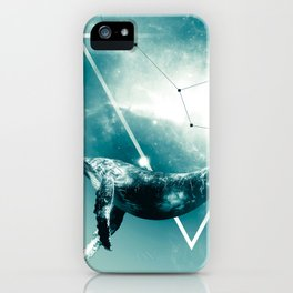 The Whale - Blu iPhone Case