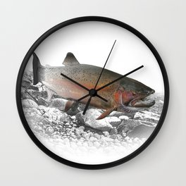 Migrating Steelhead Trout Wall Clock