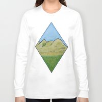 scotland Long Sleeve T-shirts featuring Hills of Scotland by Hayley Lang