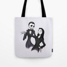 Jack & Sally Addams Tote Bag