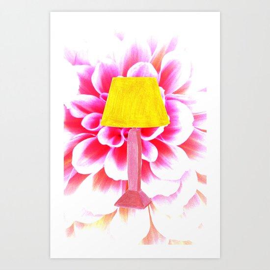 lamp shade flower illustration Art Print