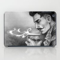"dragon age inquisition iPad Cases featuring Dragon Age Inquisition - Dorian Pavus - Morning tea by Barbara ""Yuhime"" Wyrowińska"