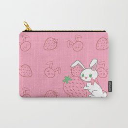 Strawberry Bunny Carry-All Pouch