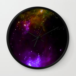 The Cosmos (purple and yellow) Wall Clock