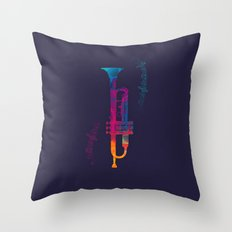 Trumpet Color Throw Pillow
