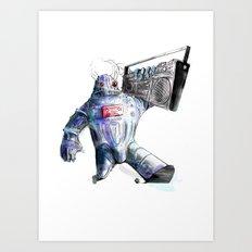 Ghetto Bot Art Print