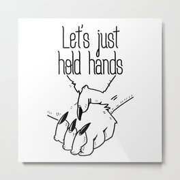 Hold Hands Metal Print