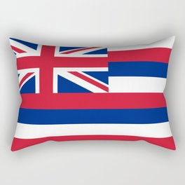 State flag of Hawaii, Authentic color & scale Rectangular Pillow