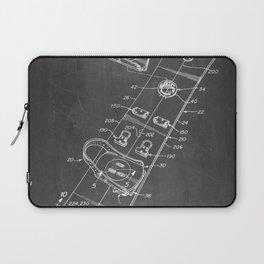 Snowboard Patent - Snowboaring Art - Black Chalkboard Laptop Sleeve