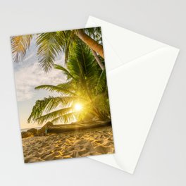 Surin beach at sunset Stationery Cards