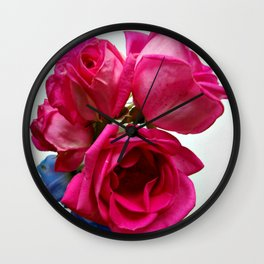 Roses from the garden Wall Clock