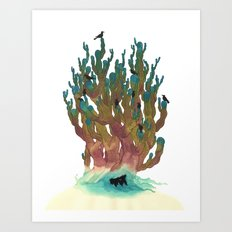 Hiding Out Art Print