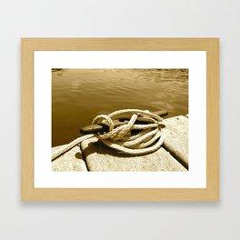 the Nautical Press / Boat Slip Framed Art Print