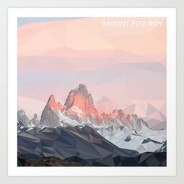 Mount Fitz Roy Art Print