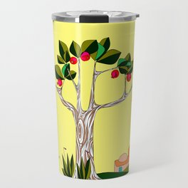 A Pomegranate Tree in Israel in the Day Travel Mug