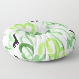Animals in the forest Floor Pillow