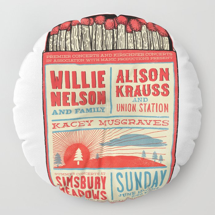 Willie Nelson And Family   Floor Pillow