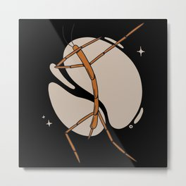 Dabbing stick bug funny insects dab Metal Print