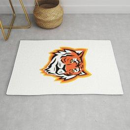 Bengal Tiger Head Mascot Rug