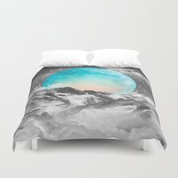 text Duvet Covers featuring It Seemed To Chase the Darkness Away by soaring anchor designs