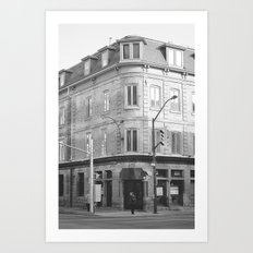 at the corner B&W Art Print
