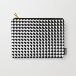 Monochrome Black & White Houndstooth Carry-All Pouch