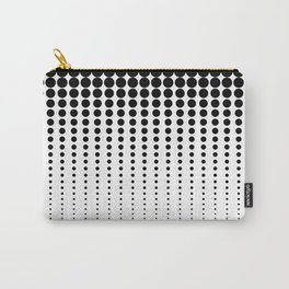 Reduced Black Polka Dots on Solid White Background Minimal Graphic Design Carry-All Pouch