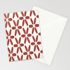 Red Mosaic Pattern Stationery Cards