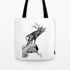 Stag Roaring in the Rut Tote Bag