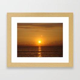 Blazing Sunrise Framed Art Print