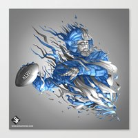 seahawks Canvas Prints featuring Superbowl XLVIII - Seahawks by The Neuronaut