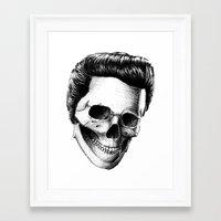 elvis presley Framed Art Prints featuring Elvis Presley by Motohiro NEZU