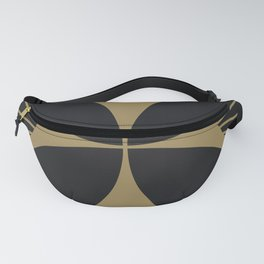 Diamond Series Floral Cross Gold on Charcoal Fanny Pack