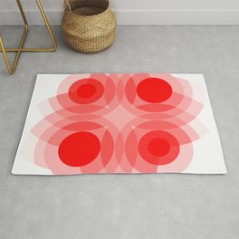 Red Interference Rug