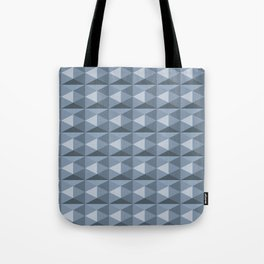 Pale blue diamond cubes Tote Bag