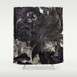 goth peony Shower Curtain