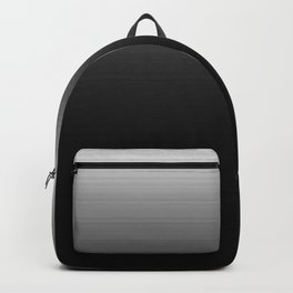 Black & White Ombre Gradient Backpack