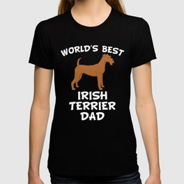 World's Best Irish Terrier Dad T-shirt