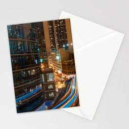 Subway Light Trails II Stationery Cards