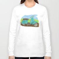 vespa Long Sleeve T-shirts featuring Vespa by JasonKoons