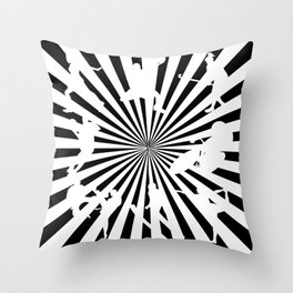 Sports figures in abstract background Throw Pillow