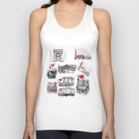 cities Tank Tops featuring Cities 1  by sladja