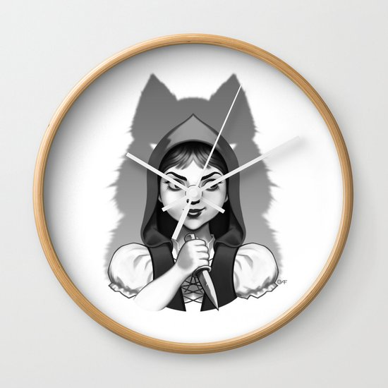 Little Red Riding Hood's Surprise Wall Clock