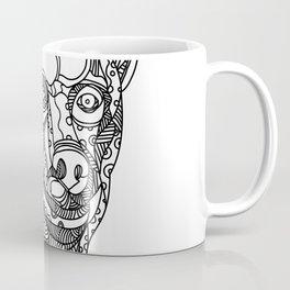 Brown Bear Head Doodle Coffee Mug