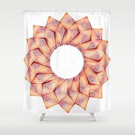 Threaded Lotus Shower Curtain